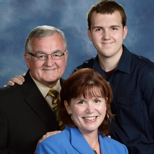 Pastor Dennis, Judith, and Sam Christiansen